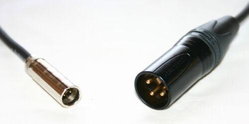Adapterkabel Paccs Mini XLR male auf XLR Neutrikstecker male,Kontakte gold,