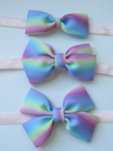 Baby Girl Infant Headband Elastic Hair band Bow Hair Accessories Rainbow Unicorn