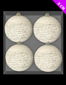 Pack-Of-4-8cm-Swirl-Snow-Baubles-Christmas-Decorations-DP91