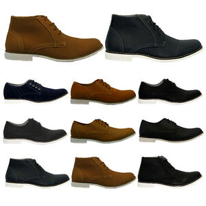 MENS-SUEDE-LACE-UP-CASUAL-FORMAL-DESERT-CHELSEA-BOOTS-TRAINERS-SHOES-SIZE-6-11UK