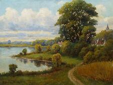 Wilhelm BOEHME-BRAUER (1875-?) Seelandschaft im Sommer. Alter ca. 1930.