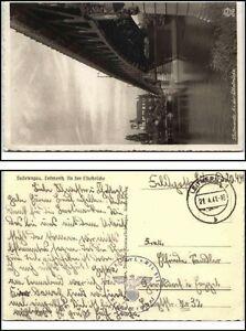 1941 LEITMERITZ Litoměřice Elbe Brücke Feldpost 2. Weltkrieg Briefstempel gelauf