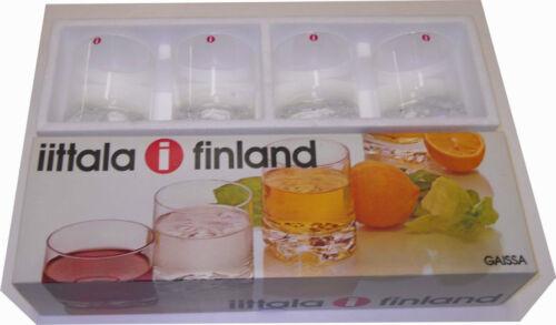 Iittala Tapio Wirkkala Vintage Gaissa Whisky Grog Tumblers Glasses 4 Finland NIB