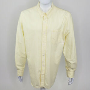 Timberland Men's Yellow Striped Long Sleeve Button Down Regular Fit X-Large XL