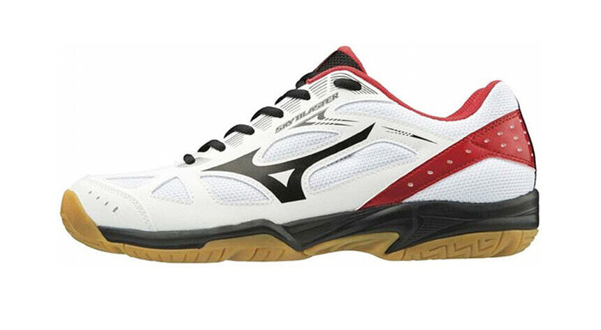 Mizuno SKY BLAST Badminton schuhe Table Tennis schuhe Weiß rot Indoor 71GA194509