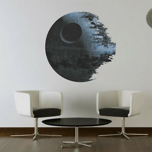 death star star wars tapete starwars wand wandsticker kinderzimmer dekoration ebay. Black Bedroom Furniture Sets. Home Design Ideas