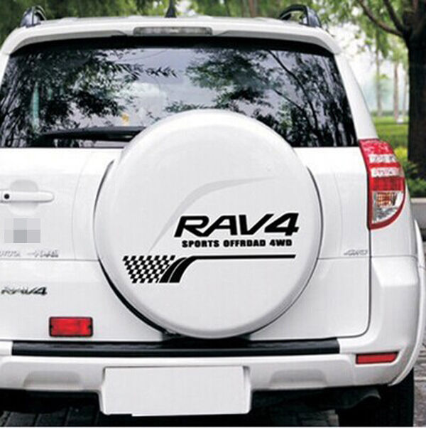Black Size L Rav4 Sport Sticker Boot Back Decal Emblem Logo For Toyota S147 Online Ebay