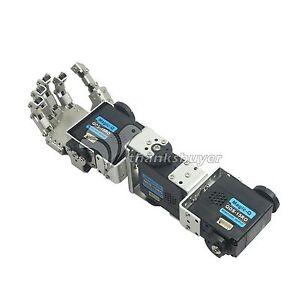 Details about Humanoid Robot Left Hand Arm with Fingers Manipulator & Servo  for DIY Robotics