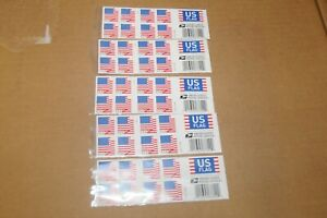 Five Booklets x 20 = 100 Stamps 2018 US FLAG USPS Forever Postage Stamps.