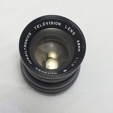 Missiltronics 48mm f/1.9 Television Camera Lens M39 / C Mount
