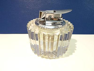 Ronson / Rosenthal Varaflame Tischfeuerzeug in Kristallglas  -gasdicht -