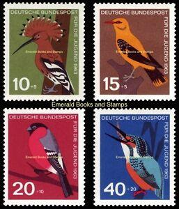 EBS-Germany-1963-Youth-Jugend-Birds-Vogel-Michel-401-404-MNH