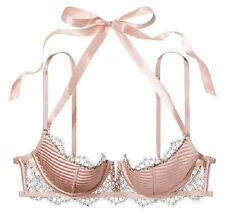 Victorias Secret Dream Angels Strappy Lace Quarter-Cup Balconet Bra Blush 32C