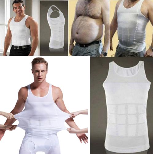 Men's Slimming Body Shaper Waist Trainer Vest Gym Tops Belly