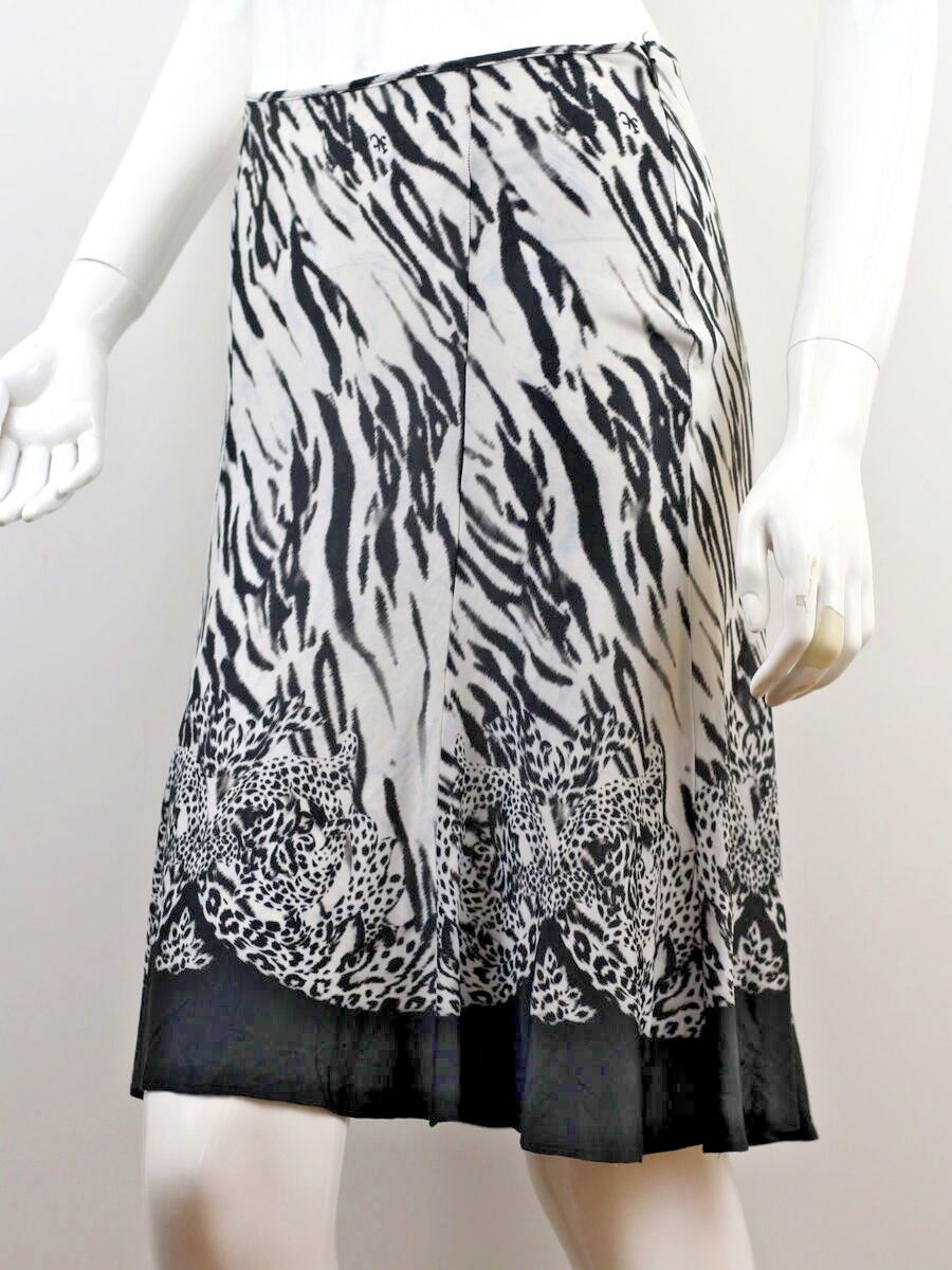 VERSACE WOMEN'S ZEBRA PRINT SKIRT SIZE 40 MADE IN ITALY