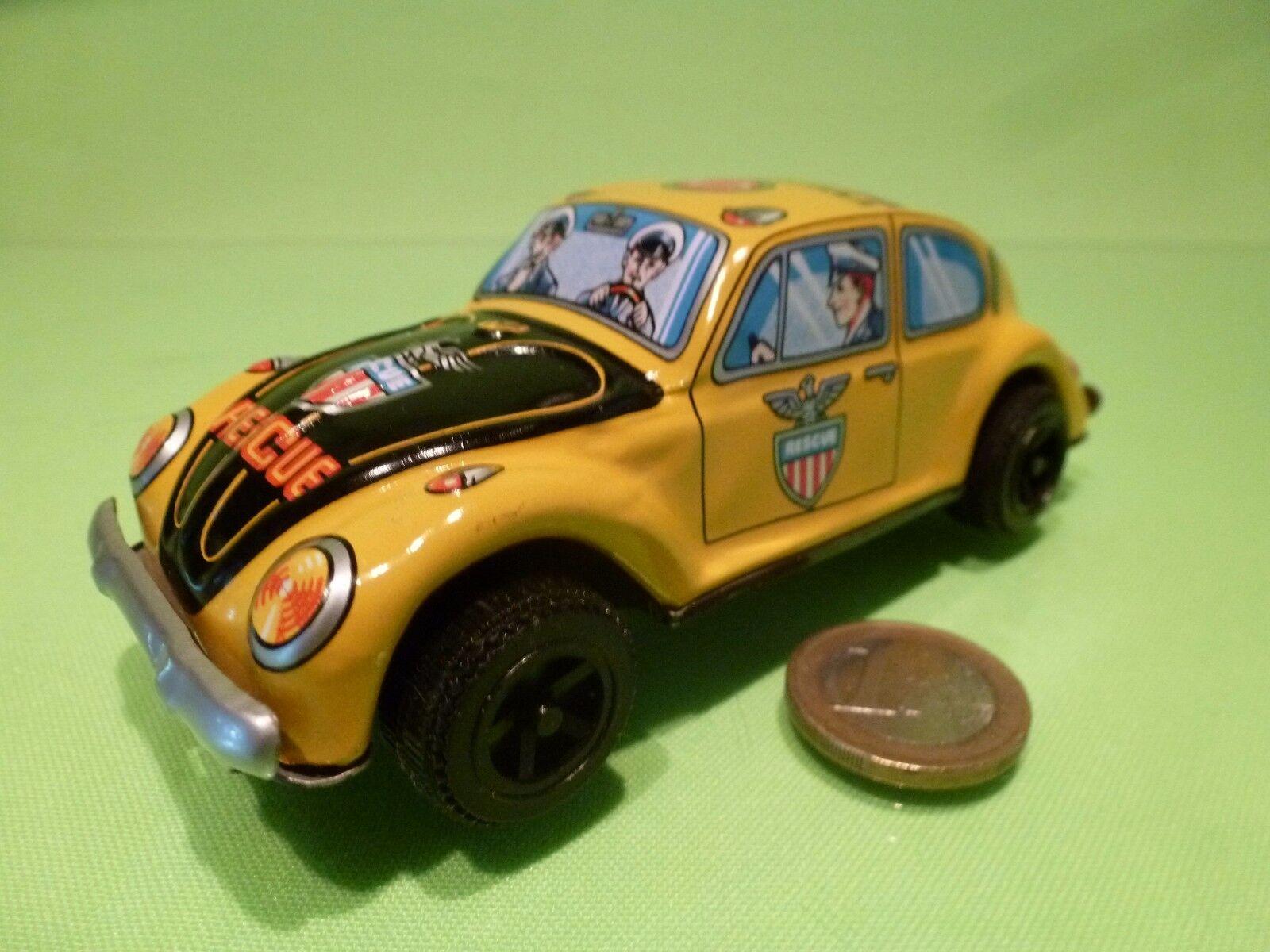 TIN TOYS JAPAN ER207 VW VOLKSWAGEN BEETLE RESCUE - POLICE - L13.0cm - FRICTION