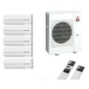 mitsubishi klimaanlage multi split 5 r um inverter 5 x msz. Black Bedroom Furniture Sets. Home Design Ideas