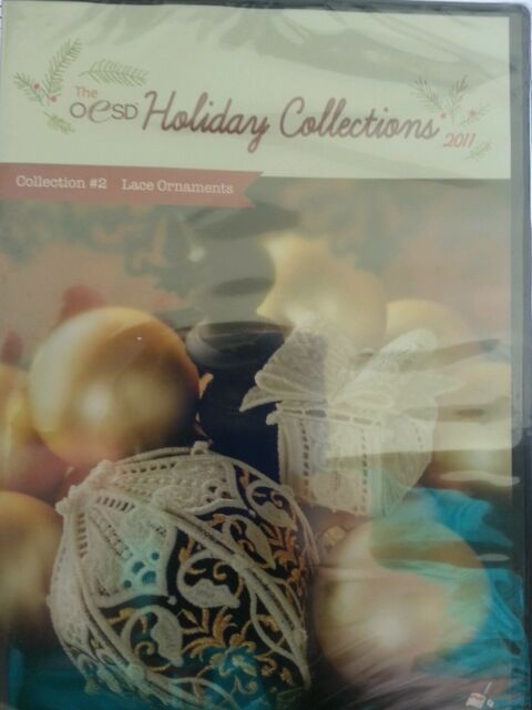 OESD Christmas holiday lace embroidery multi format cd Hus exp dst jef pes xxx