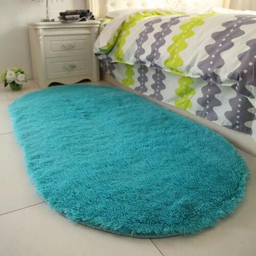 Fluffy Rugs Anti-Skid Shaggy Area Rug Carpet Dining Room Floor Mat Home Bedroom
