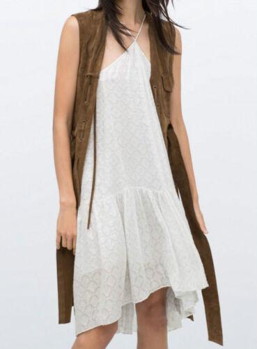 Silk Dress Size Studio S 100 Dress Ruffles Silk Silver M Flowing Zara Flying EvUYnqgwY