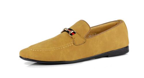 Para Hombre Casual De Imitación de Gamuza Mocasines Mocasines Sin Cordones Inteligente Zapatos De Moda Italiana