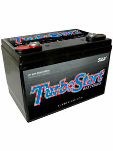 Turbostart Turbo Start Battery 2 Post 16V Agm. 675 Ca, 550 Cca, 85 Rc (S16V)