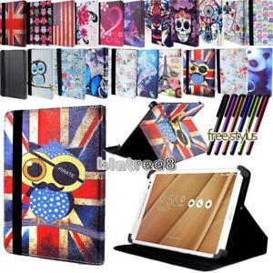 Per-vari-7-034-8-034-Asus-ZenPad-TABLET-SMART-STAND-COVER-IN-PELLE-caso-Stylus