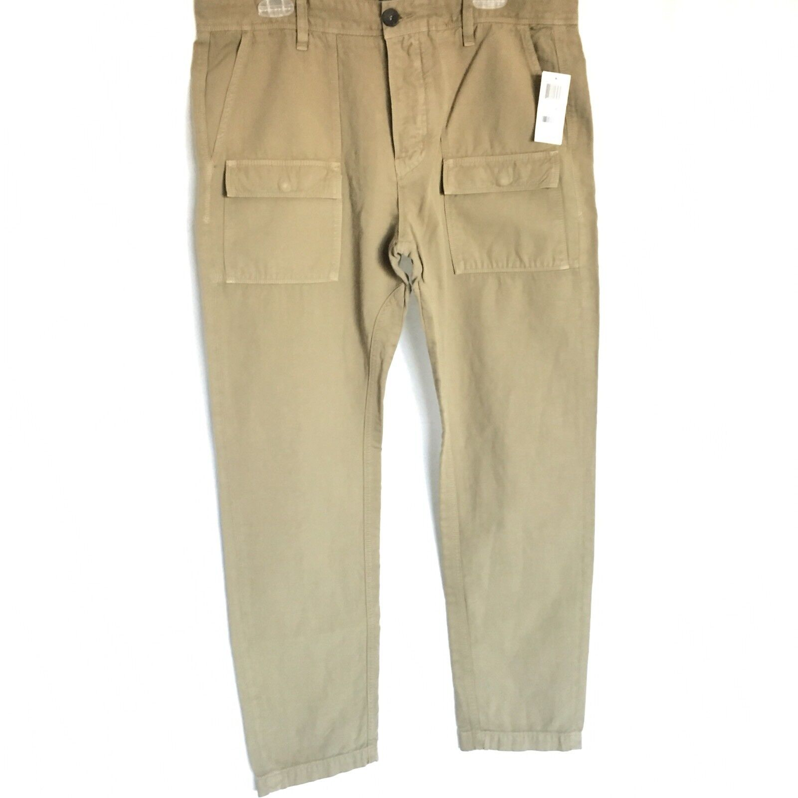 7 For All Mankind Mens Slim Fit Khaki Pants Size 36 x 30 Fashion Jeans NWT