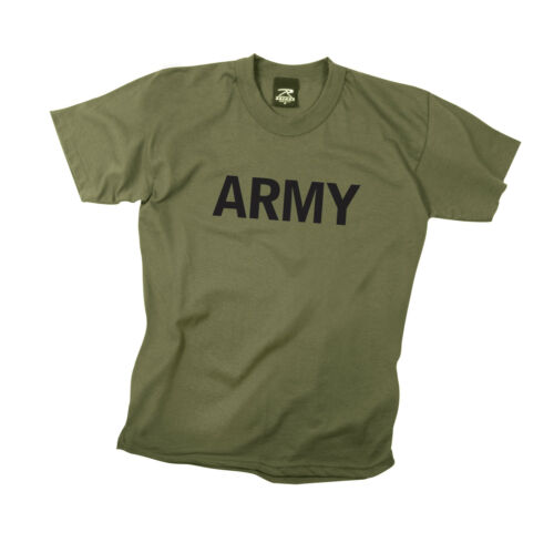 Olive Drab Rothco 66136 Kids Army Physical Training T-Shirt