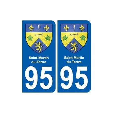95 Saint-Martin-du-Tertre blason autocollant plaque stickers ville droits