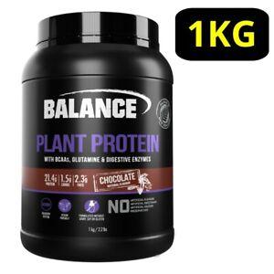 Balance Plant Protein Powder 1KG - Chocolate w/ BCAAs Glutamine P21.4g* Vegan