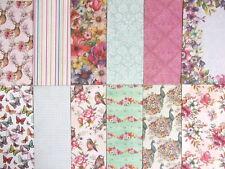 "Dovecraft Premium Bohemian 8x8"" Scrapbook Papers 12 sheets  floral"