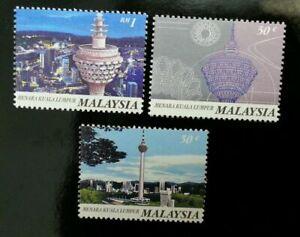 SJ-Malaysia-Kuala-Lumpur-Tower-1996-Building-Landmark-stamp-MNH