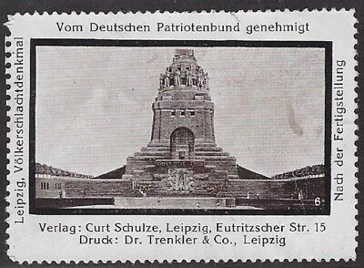 Germany Poster Stamp Leipzig Patriotic Battle Of Nations Monument Cw65 82 Ebay