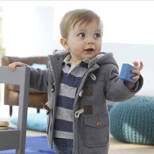 Children-Baby-Kid-Boy-Button-Zipper-Coats-Jacket-Warm-Winter-Hooded-Outwear-Xmas