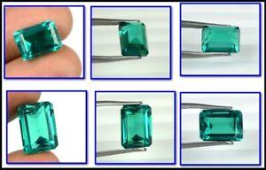 Emerald Cut 9.45 Ct Colombian Emerald Gemstone 100% Natural AGI Certified A25224