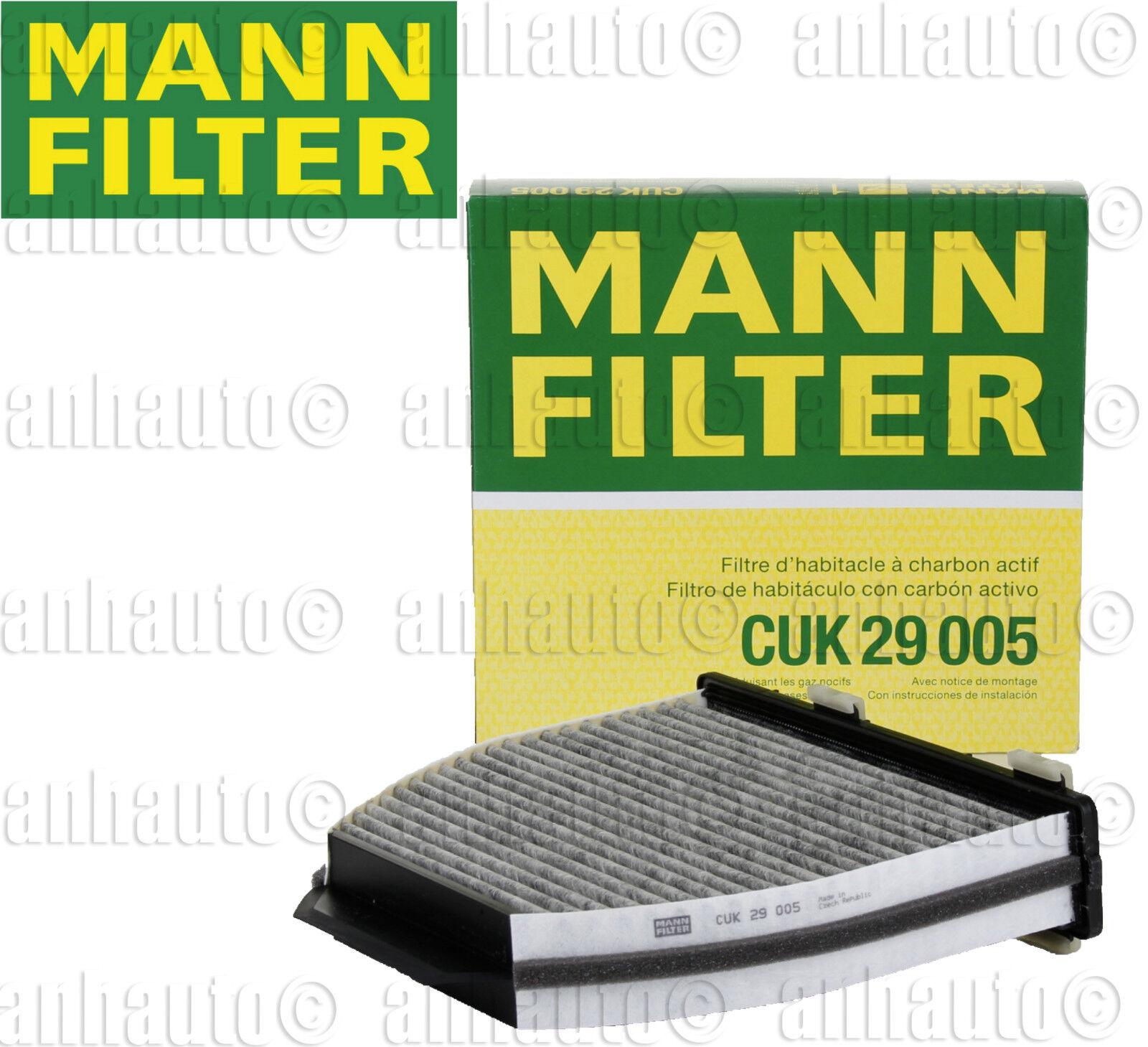 New Cabin Carbon Air Filter For Mercedes W204 W212 C250 C300 E550 OEM Mann