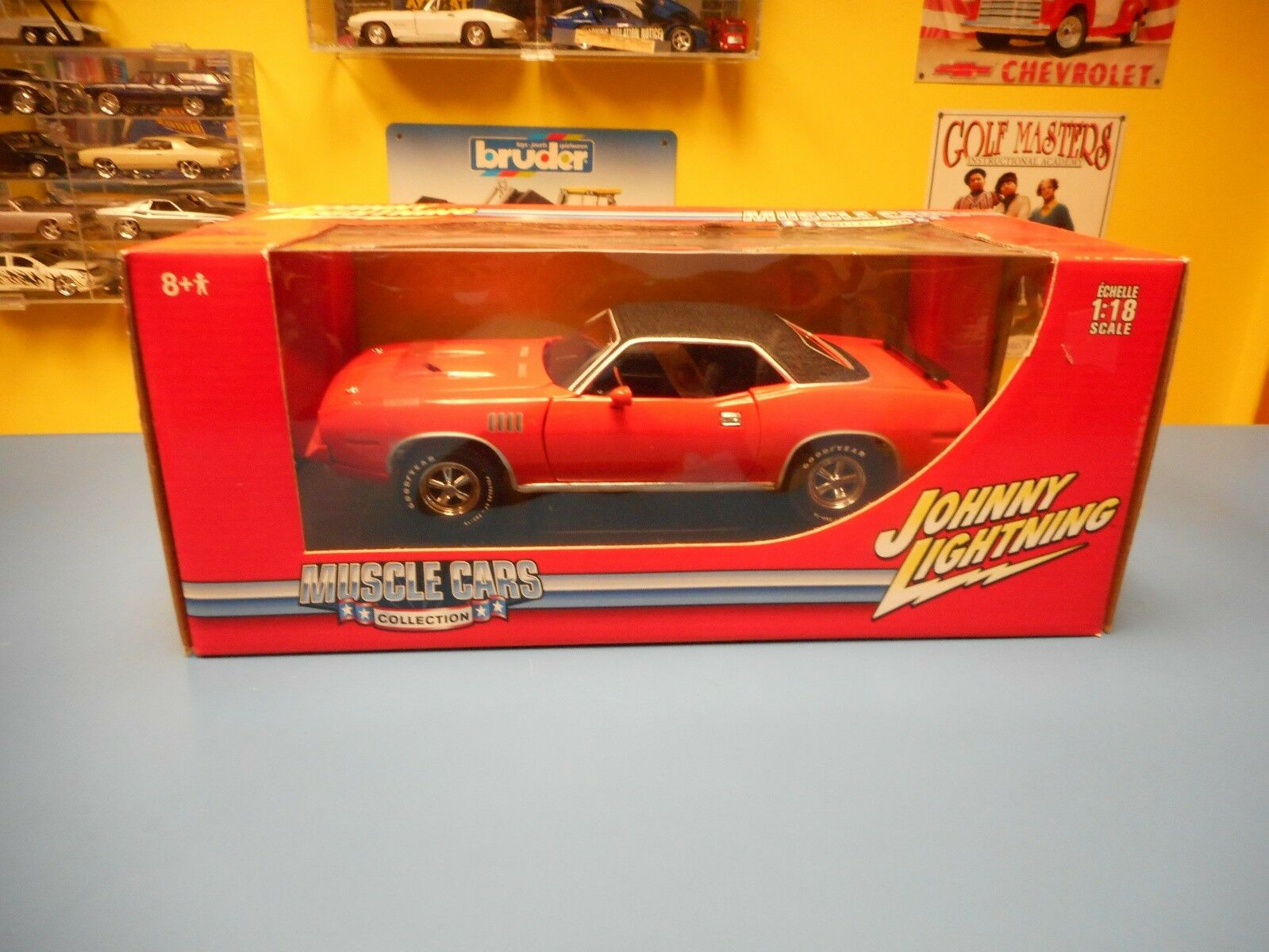 Johnny Blitz 1971 Plymouth 340 Cuda 1 18   Nib