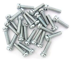 JIS Phillips Pan Head Metric Motorcycle Carburetor Bolts - 25 Pack - 4X16