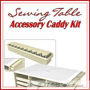BonEful NEW Sewing CRAFT Room Organizer TABLE Scissors Shears Quilt Storage Kit