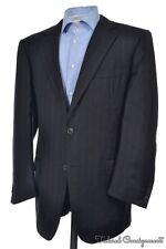 ERMENEGILDO ZEGNA Couture Black Stripe Trofeo Sport Coat Blazer Jacket - 44 R