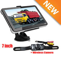 7'' 4gb Truck Car Gps Navigation System Sat Nav+bluetooth Lifetime Map+camera Ew
