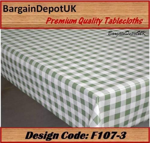 Cœur carreaux pvc vinyle nappe toile cirée facile à nettoyer 140cm de large qualité premium