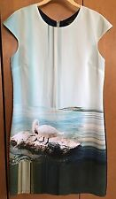 TED BAKER London Limited Edition Langley Collection YONINA Swan Lake Dress Sz 2