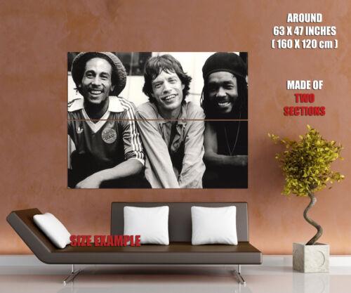 V4126 Bob Marley Mick Jagger Peter Tosh Backstage 1978 PRINT POSTER Plakat