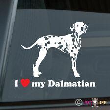 I Love My Dalmatian Sticker Die Cut Vinyl - dal