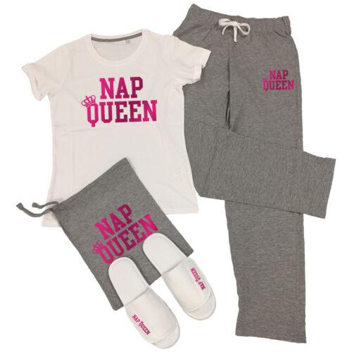 aggiungi opzione Pantofole NAP Queen T-Shirt /& Pantaloni Pigiama Set Lazy un sonnellino Pjs