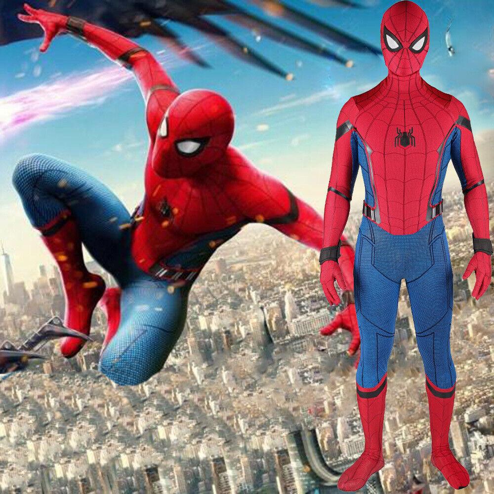 Spider-Man Homecoming Jumpsuit Spiderman Cosplay Costume Adult & Kids Halloween