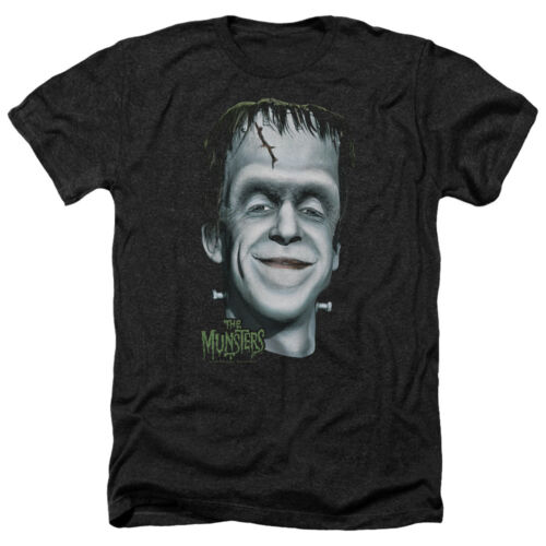 Munsters TV Show BIG HERMAN/'S HEAD Picture Adult Heather T-Shirt All Sizes
