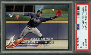 2018 Topps Update Ronald Acuna Jr. PSA 9 Mint #US252 Braves RC Rookie Debut